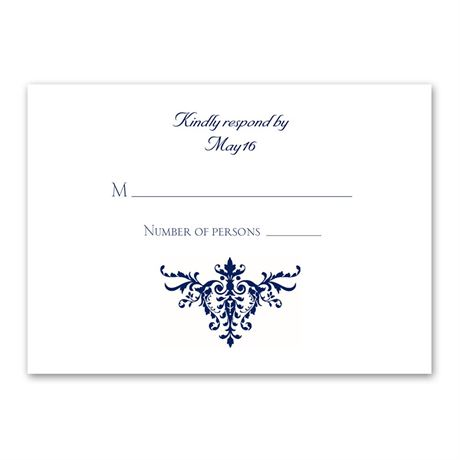 Pure Sophistication Response Card and Envelope