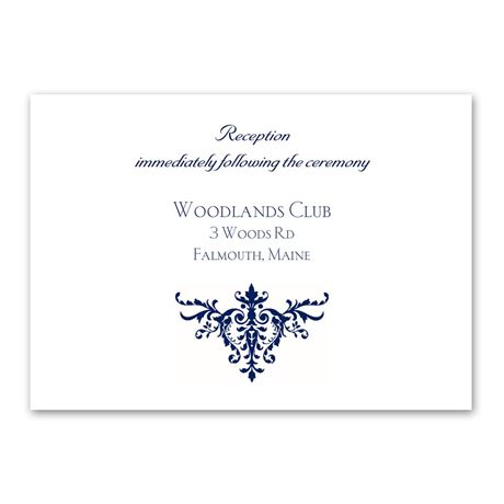 Pure Sophistication Reception Card