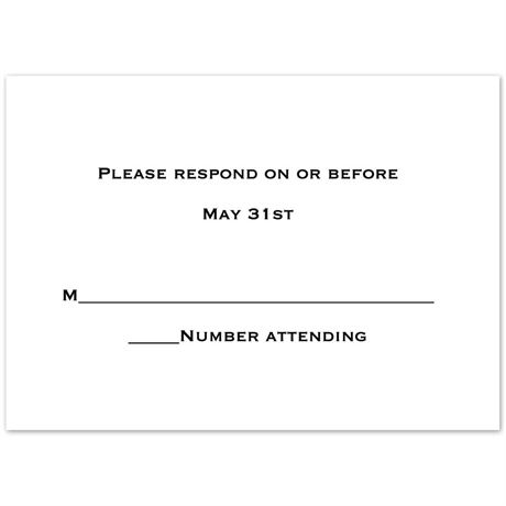 Respond Card and Envelope