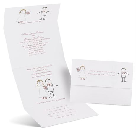 Cute Couple Seal and Send Invitation