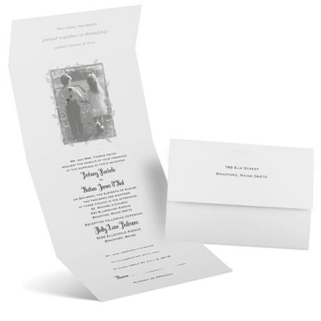 Romantic Surprise Seal and Send Invitation