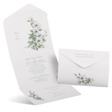 Classic Floral Seal and Send Invitation