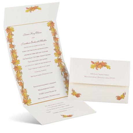 Autumn Garland Seal and Send Invitation