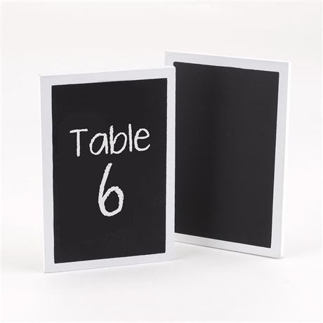 White Chalkboard Table Cards