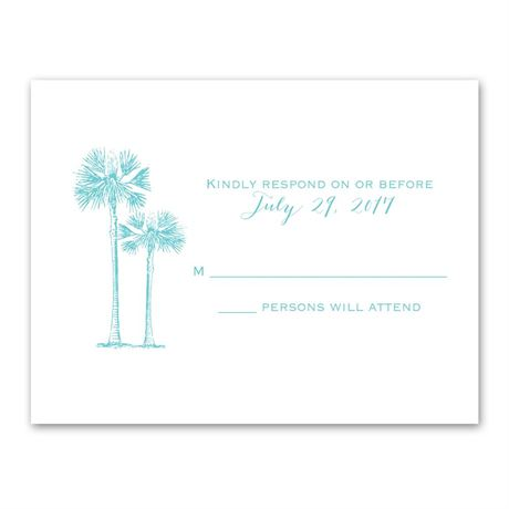 Tropical Pair Response Card and Envelope