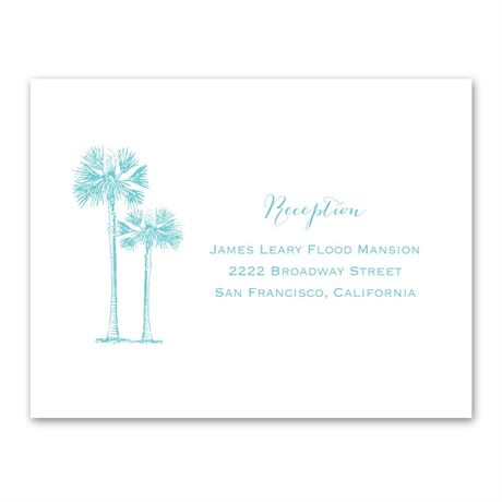 Tropical Pair Reception Card