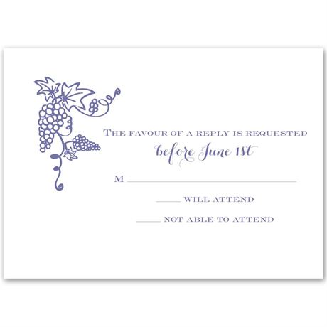 Vineyard Monogram Response Card
