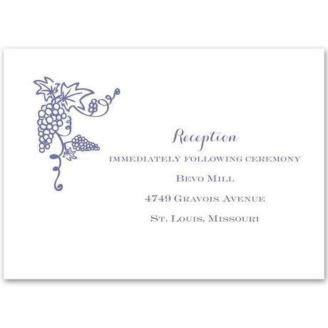 Vineyard Monogram Reception Card