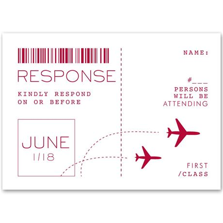 Boarding Pass Response Card