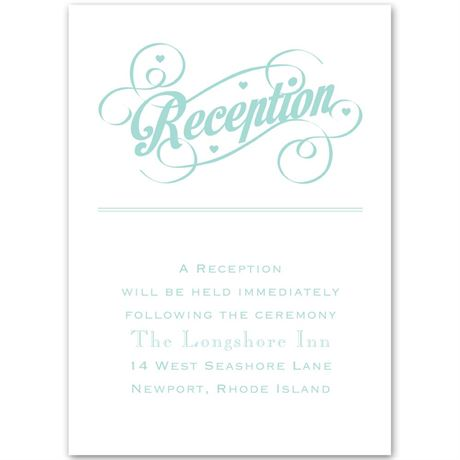 Happy Couple Reception Card