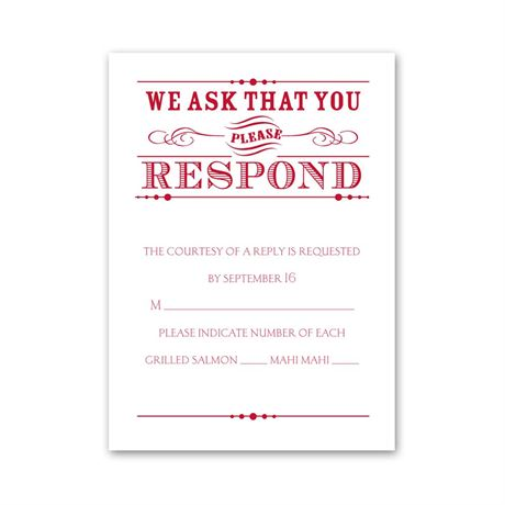 Typography on White Response Card and Envelope