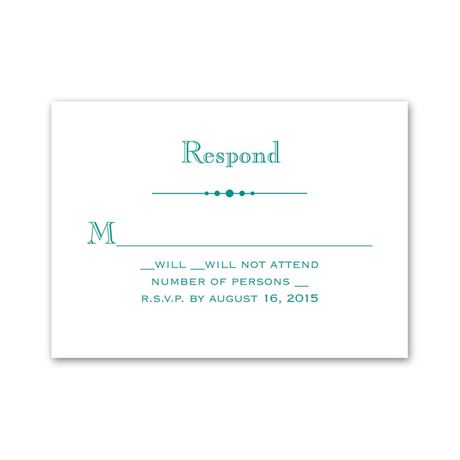 Skillfully Scalloped Response Card and Envelope