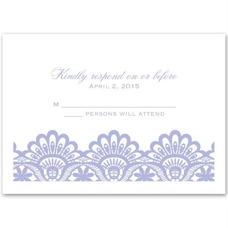 Luxurious Borders White Response Card and Envelope