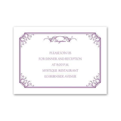 Simply Beautiful Reception Card