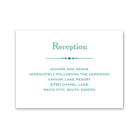 Skillfully Scalloped Reception Card