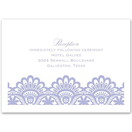 Luxurious Borders White Reception Card