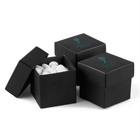 Black 2-Piece Favor Boxes