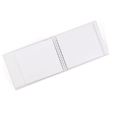 White Swirl Dots Guest Book
