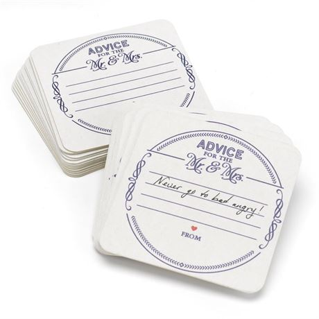 Mr. and Mrs. Advice Coasters