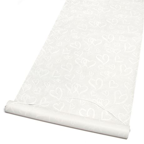 Ivory Interlocking Hearts Aisle Runner