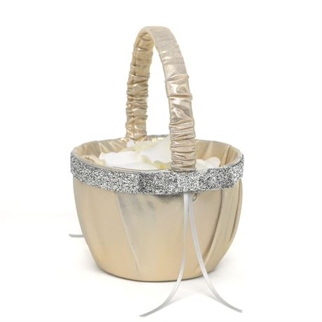 Metallic Sparkle Flower Basket