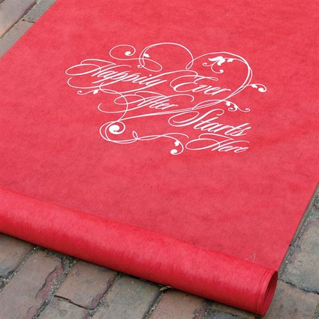 Happily Ever After Red Aisle Runner