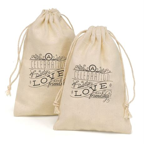 Celebration of Love Cotton Favor Bags