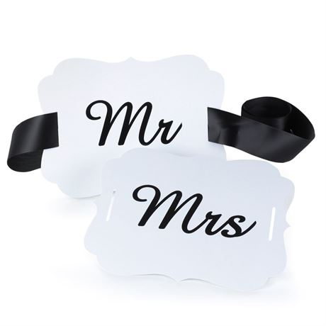 Mr. and Mrs. Scalloped Chair Banners
