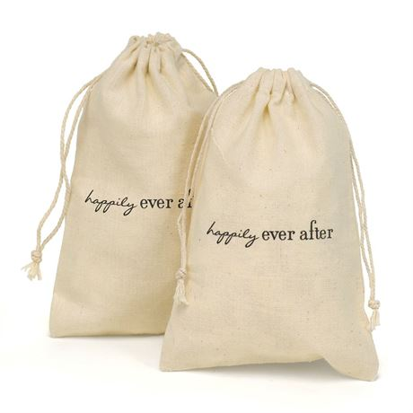 Happily Ever After Cotton Favor Bags