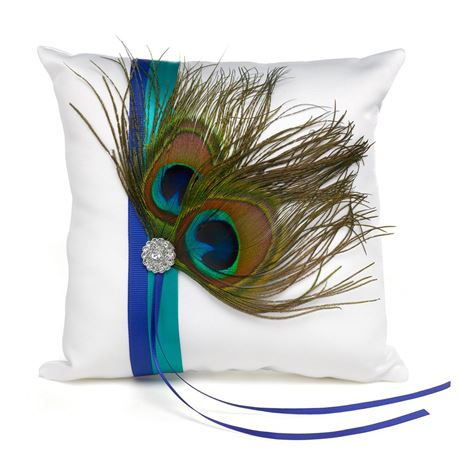 Beautiful Peacock Ring Pillow