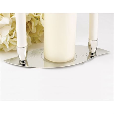 Linked Hearts Unity Candle Stand