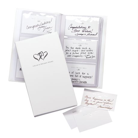 Linked Hearts Wedding Wishes Set