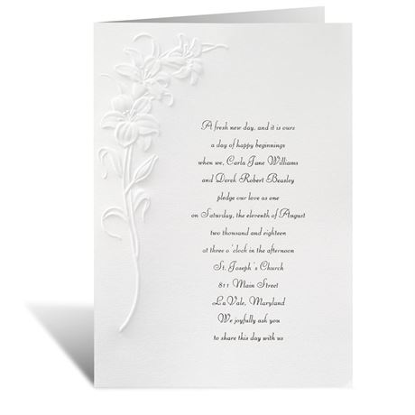 Lovely Lilies Invitation