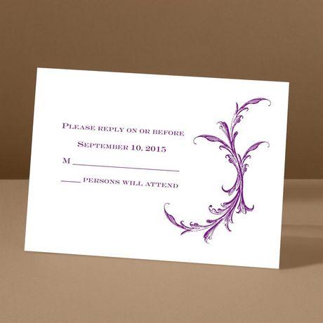 Flourish Embrace Response Card and Envelope