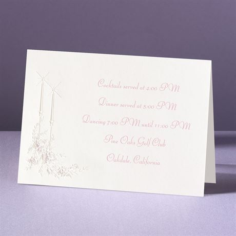 Candlelight Reception Card