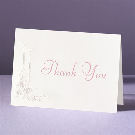 Candlelight Thank You Card and Envelope