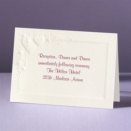 Romance at Full Bloom Reception Card