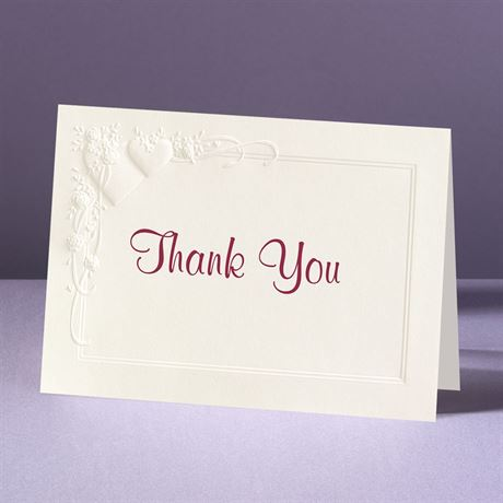 Romance at Full Bloom Thank You Card and Envelope