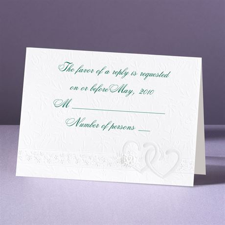 Hearts Desire Response Card With Envelope