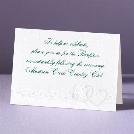 Hearts Desire Reception Card