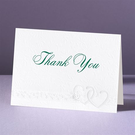 Hearts Desire Thank You Card and Envelope