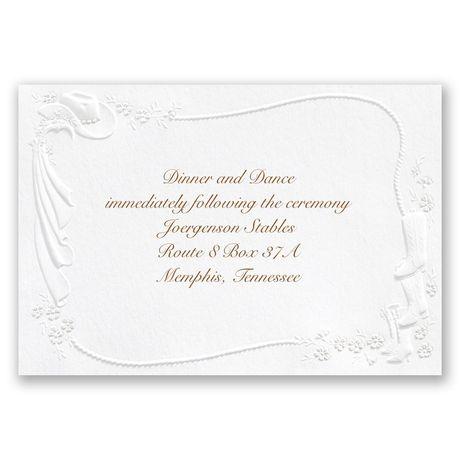 Western Fancy Reception Card