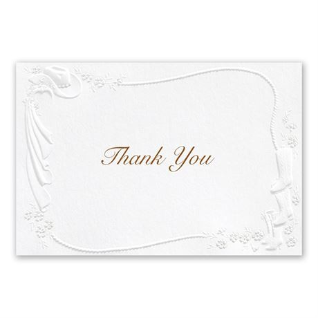 Western Fancy Thank You Card and Envelope