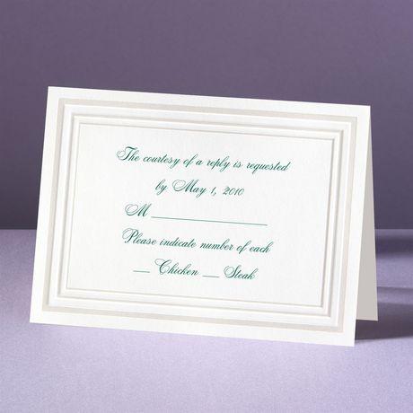 Elegant Pearl Borders Response Card and Envelope