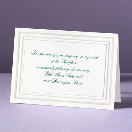 Elegant Pearl Borders Reception Card