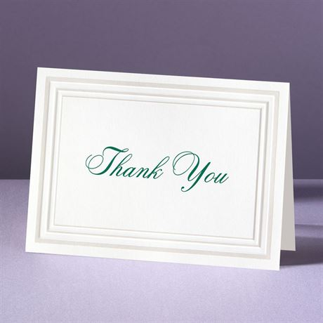 Elegant Pearl Borders Thank You Card and Envelope