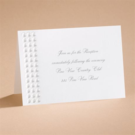 Shimmering Pearls Reception Card