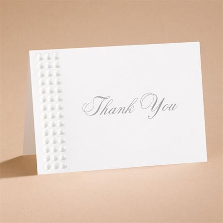 Shimmering Pearls Thank You Card and Envelope