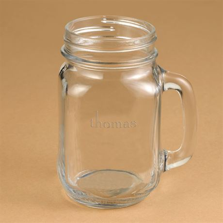 Groomsmen Drinking Jar