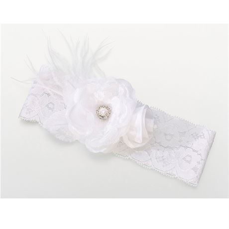 White Vintage Lace Wedding Garter